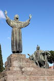 Statue of Saint Francis in Rome Royalty Free Stock Photography