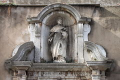 Statue of Saint Francis Stock Photography