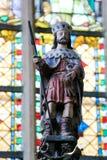Statue of Saint Gummarus in Lier Stock Image