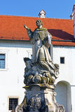 Statue of saint Ivan Nepomuk Royalty Free Stock Photography