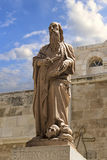 Statue of Saint Jerome St. Hieronymus in Church of Nativity in Royalty Free Stock Photography