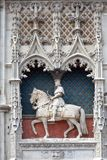 Statue of Saint Joan of Arc in Blois. Statue of Saint Joan of Arc on the entrance to Chateau de Blois France Stock Image