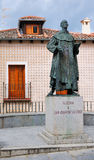 Statue of Saint John of the Cross, Segovia, Spain stock photo