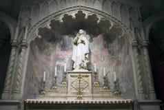 Statue Saint John the Evangelist. New York, NY - April 10: Statue of Saint John the Evangelist located inside Saint Patrick's Cathedral.  Image Taken April 10 Stock Photo