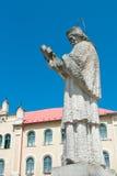 Statue of a Saint John of Nepomuk Stock Image