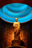 Statue of Saint Joseph. With lighted dome as halo Stock Photo