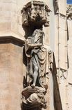 Statue of a saint in La Lonja monument Royalty Free Stock Photo