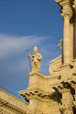 Statue of Saint Martian on Siracusa Cathedral Stock Image