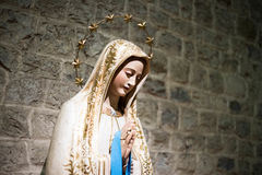 Statue of saint Mary in a catholic italian church Royalty Free Stock Image