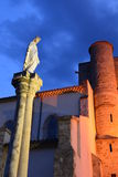 Statue of Saint Mary in Corneilhan, Herault, France Royalty Free Stock Image