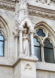 Statue of a Saint at Matthias Church in Budapest, Hungary Royalty Free Stock Images