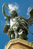 Statue of Saint Michael, Castel Sant'Angelo. Statue of Saint Michael the Archangel at top of Castel Sant'Angelo, Rome Stock Photography