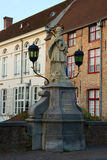 The statue of Saint Nepocemus, Bruges Stock Photo