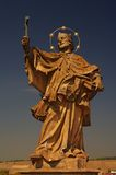 Statue of Saint Nepomuk at old bridge, Wurzburg Royalty Free Stock Image