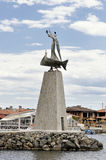 Statue of Saint Nicholas in Nessebar, Bulgaria Royalty Free Stock Photos