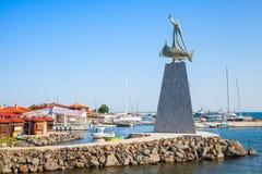 Statue of Saint Nicholas in Nessebar, Bulgaria Stock Image