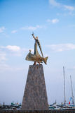 Statue of Saint Nicholas in old Nessebar town Royalty Free Stock Image