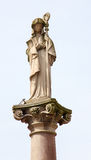Statue of Saint Odile in Obernai, Alsace, France Royalty Free Stock Photos