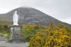 Statue of Saint Patrick, Croagh Patrick, Ireland Royalty Free Stock Images