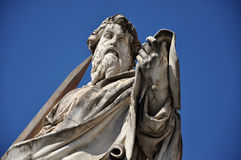 Statue of Saint Paul the Apostle Stock Images
