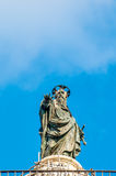 Statue of Saint Paul on Piazza Colonna in Rome, Italy. Stock Photos