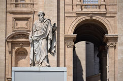 Statue of Saint Paul in Vatican Royalty Free Stock Images