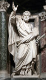 Statue of Saint Peter the apostle. Into a niche in the Archbasilica of St. John Lateran, Rome Italy Royalty Free Stock Images