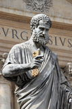 Statue of Saint Peter the Apostle. In Vatican City State Royalty Free Stock Photo