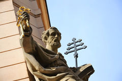 Statue of Saint Peter in Prague Stock Photography