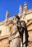 Statue of Saint Peter, Maderno facade, Saint Peters Basilica Stock Image