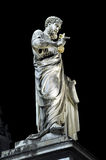 Statue of Saint Peter at night. Vatican city Royalty Free Stock Photo