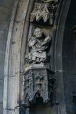 Statue of Saint Peter on portal of Saint Maurice Church. Halle ( Royalty Free Stock Photos