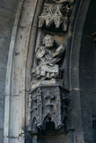 Statue of Saint Peter on portal of Saint Maurice Church. Halle ( Royalty Free Stock Photos