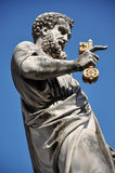 Statue of Saint Peter in Saint Peter square. Vatican city Royalty Free Stock Images