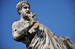 Statue of Saint Peter in Saint Peter square. Vatican city Stock Photos