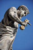 Statue of Saint Peter in Saint Peter square. Vatican city Royalty Free Stock Image