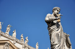 Statue of Saint Peter in Saint Peter square. Vatican city Royalty Free Stock Photography