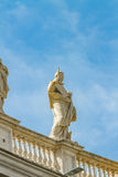 Statue from Saint Peter square in Vatican Royalty Free Stock Images