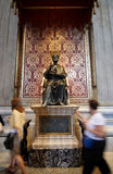 The statue of Saint Peter in St. Peter's Basilica. Rome, Italy Stock Images