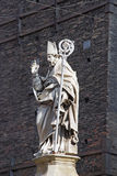 Statue of Saint Petronius, patron saint of Bologna Stock Image