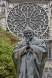 Statue of Saint Pope Jean-Paul II stock image