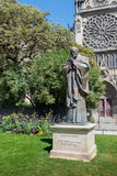 The Statue of Saint Pope Jean-Paul II in Paris Royalty Free Stock Photo