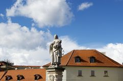 Statue of Saint in Prague Royalty Free Stock Photography