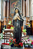 Statue of Saint Rita in church of Saint Gery Stock Photography
