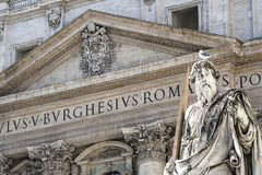 The Vatican City, Rome , Italy - St. Paul Statue stock photo