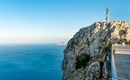 Statue of Saint Rosalia in Monte Pellegrino, Palermo, Sicily. Italy Royalty Free Stock Photos