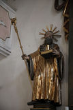 Statue of Saint, Sanctuary of St. Agatha in Schmerlenbach Royalty Free Stock Image