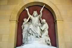 Statue of a saint in Sanssouci Stock Images