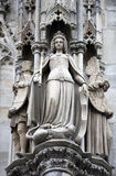 Statue of Saint, St. Stephen's Cathedral in Vienna Royalty Free Stock Images