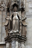 Statue of saint at St Stephen`s Cathedral in Vienna Stock Photo